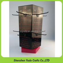 Custom tabletop rotating socks display stands/peg hook counter stand