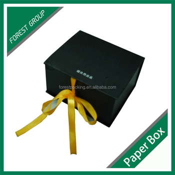 FANCY GIFT BOX WITH RIBBON LUXURY FOLDABLE MAGNETIC CLOSURE PAPER GIFT BOX