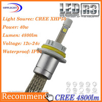 wholesale led head light h4 selling r3 led headlight bulb h4 ,super powerful car headlight car auto led light
