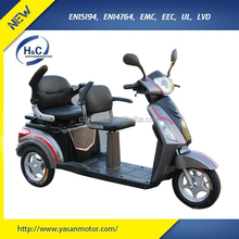 60V/72V 1000W lead acid battery 2 seat mobility electric scooter for handicapped people with EEC