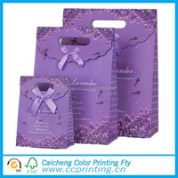 Cheap price Wedding Candy Packaging paper bag with Die cut Handle