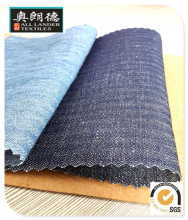 linen cotton denim fabric 55 % c 45 % L 5.5 oz 57 / 58 ""