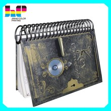 Cheap high quality spiral binding hardcover book offset printing services