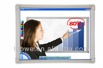 Best selling 88'' all-in-one interactive whiteboard with anti jagged line technology for school educational equipment