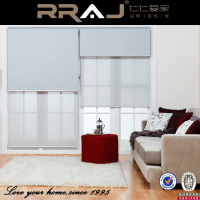 RRAJ Sunscreen and Blackout Double Layer Roller Blinds
