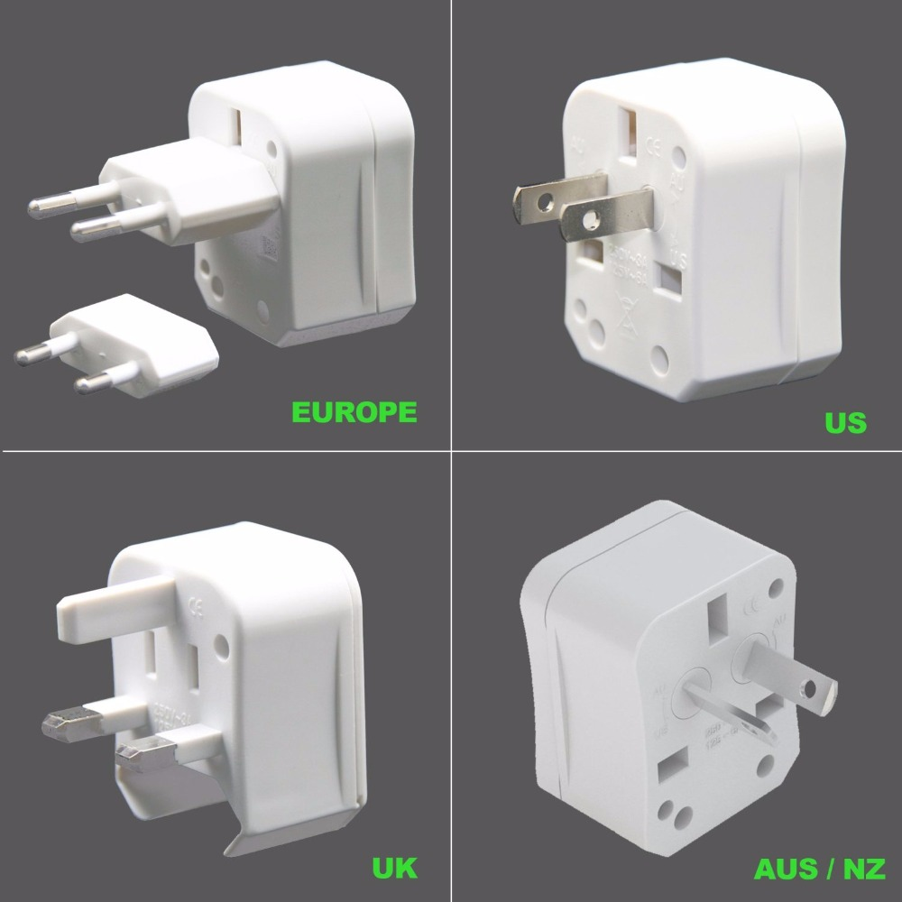 4 in 1 Universal travel adapter US to UK EU AUS electrical plug