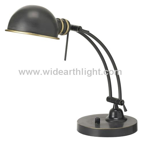 UL CUL Approved Hotel Room Office Painted Black Grey Adjustable With Knob Switch Vintage Metal Desk Lamps Light Fixture T80325