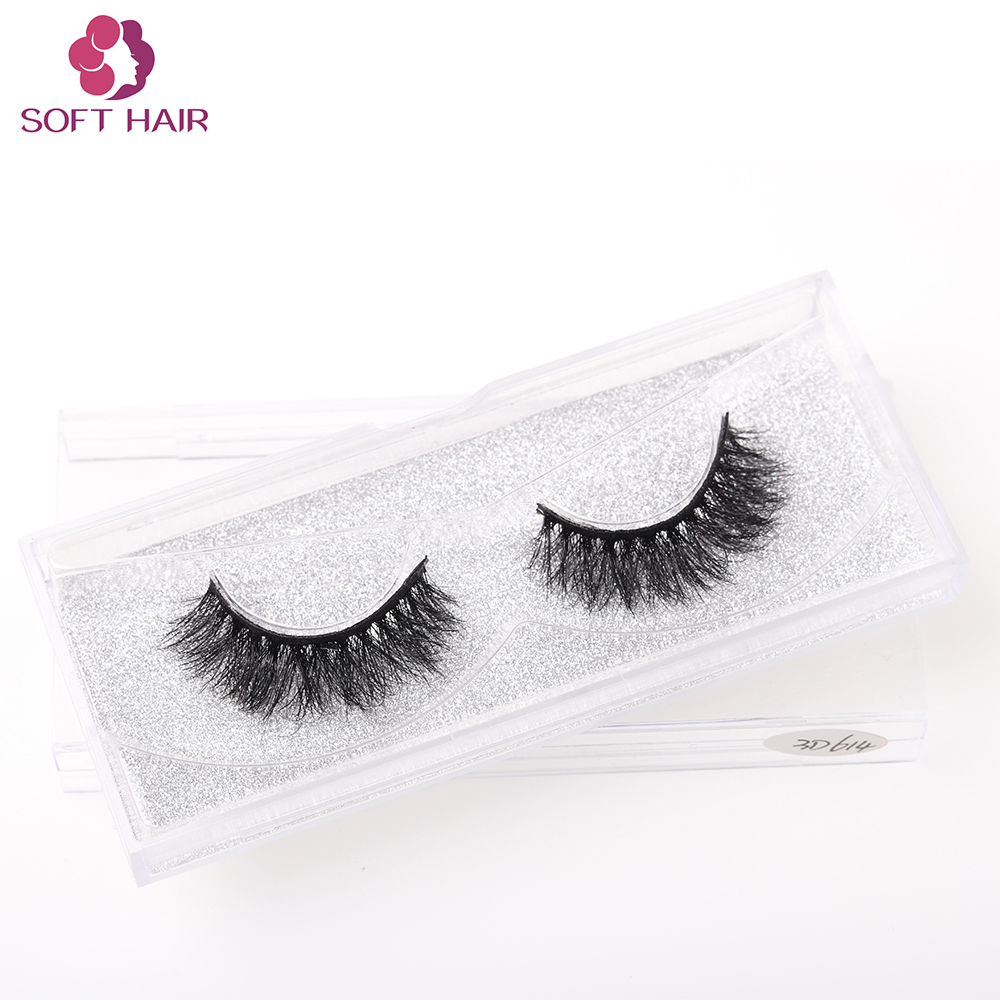 Wholesale alibaba private label 3D mink fur lashes strip long eyelashes false eyelash mink strip eye lashes