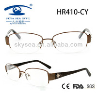 Spectacle Frames China with Diamond Decoration Women Stainless Latest Fashion in Eyeglasses