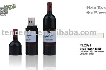 wine bottle USB flash drive usb stick (128MB-16GB)