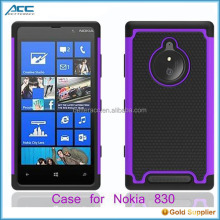case for nokia lumia 830, Silicone +PC cell phone case for nokia lumia 830
