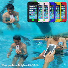 For iPhones Compatible Brand and pc+silicone Material waterproof case for iphone 4 4s 5 5s 5c