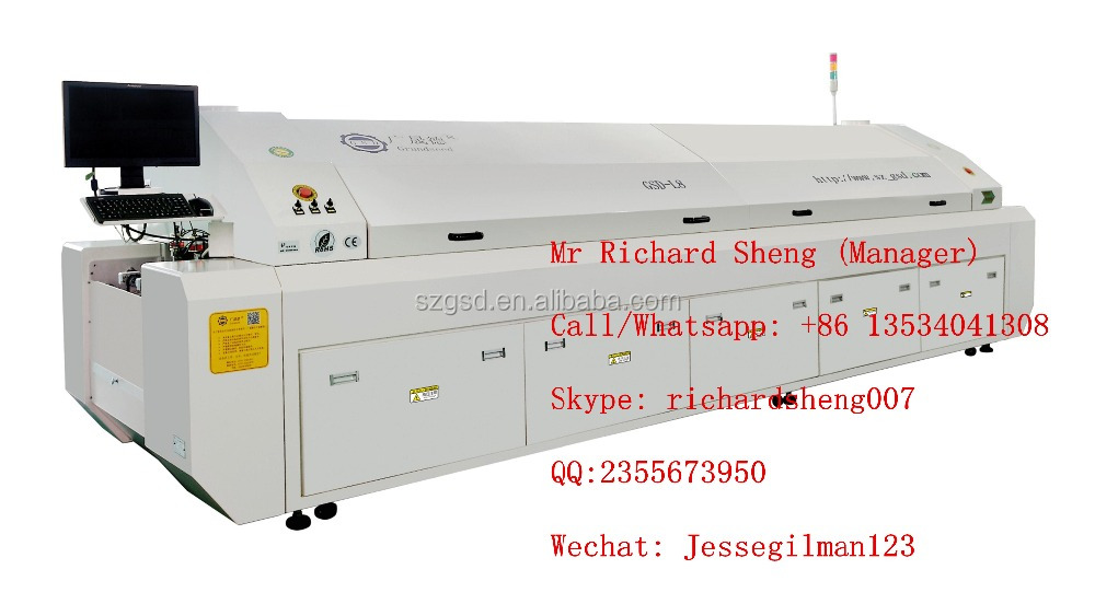 GSD-L8 reflow oven, SMT solder, Led production line equipment