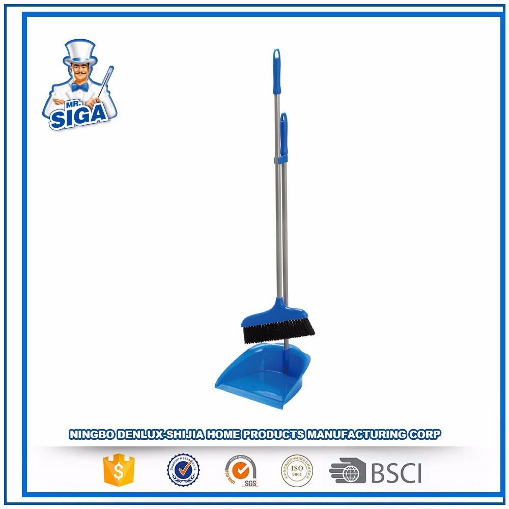 Mr.SIGA Long Durable Floor Cleaning Products Plastic Dustpan And Broom Set