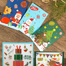 Wholesale Christmas three- dimensional greeting card for children DIY