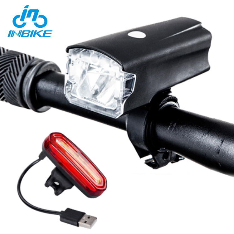 INBIKE Bicycle Light Bike Headlight USB Rechargeable Cycling Led Light MTB Bicycle Accessories Battery Flashlight
