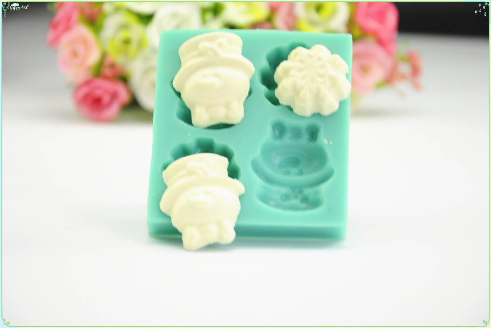 First-class Food-grade Cake Silicone Mould, 3D Cake And Fondant Mould With Cute Images For Soap,Candy,Chocolate Cookies,Cake DIY