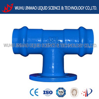 Double PVC socket with flange Tee
