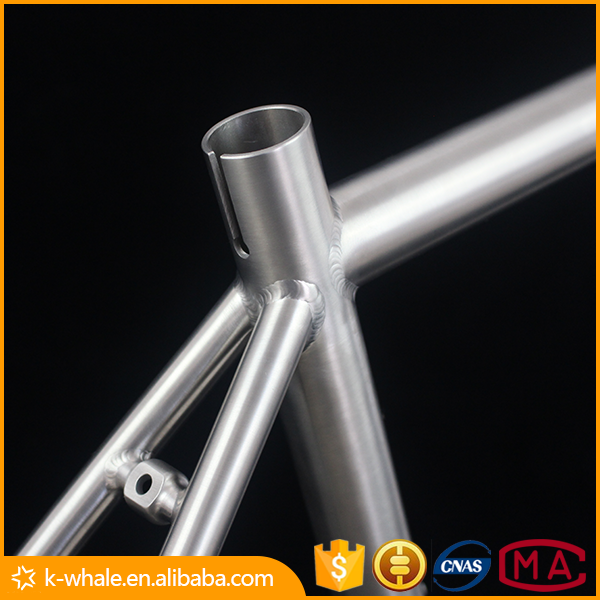 High quality parts for bikes titanium road bike cycling frame