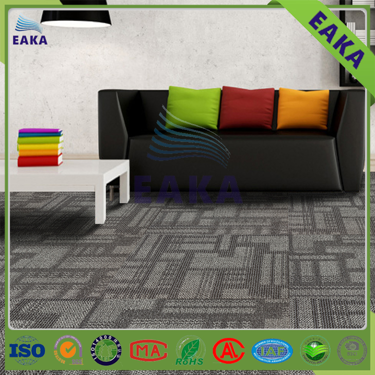 eaka stain resistant fireproof cheap price texture floor carpet tile remnants online for sale