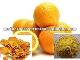 Dried orange peel for cosmetics