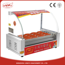 Chuangyu Alibaba China Online Selling 7 Roller 13.5KG Decilious Hot Dog Machine With Bun Warmer