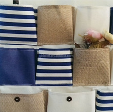 wholesale fabric cotton linen hanging wall storage bag