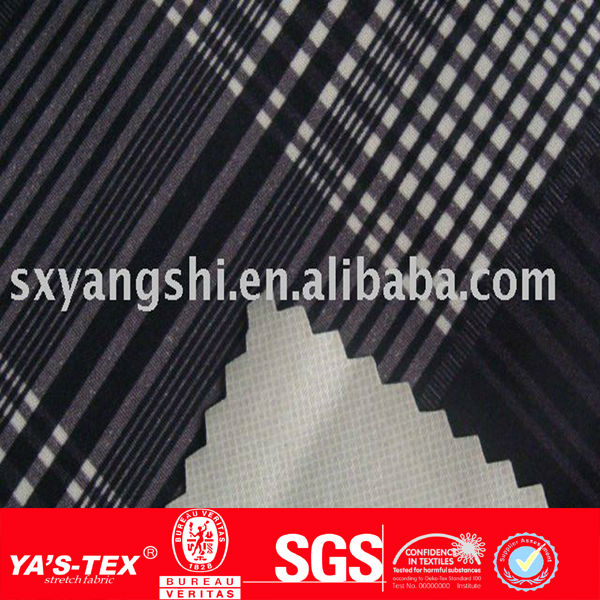 Polyester nylon printed bonded stretch fabric