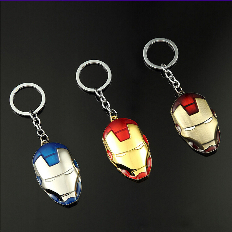 Fashionable Hip Hop Style Multicolored Iron Man Keyring For Kids