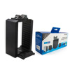 Multifunctional storage stand kit storage tower with dual charger for PS4 slim/pro