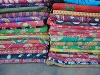 Authentic indian old vintage kantha Quilt, Reversible 100% cotton Quilts/Throw/Blanket/Gudari