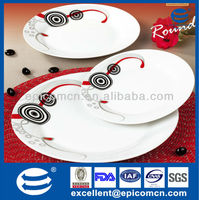 Stocked, Eco-Friendly Feature and Ceramic Material dinner set 18pcs
