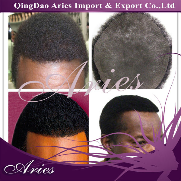 kinky textured afro curl natural hair man wigs