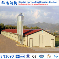 Prefabricated light structural steel hen house for sale