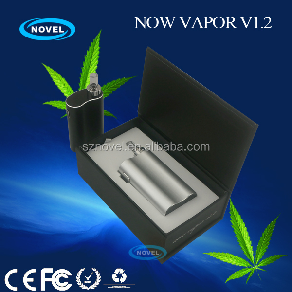 Replaceable glass mouthpiece no burning taste Now Vapor V1.2 ego-t herbal vaporizer smoke