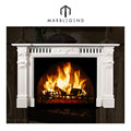 High density housing architecture white marble fireplace mantel