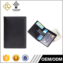 2016 custom personalized mens small leather wallet RFID blocking business credit card holder