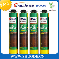 one component moisture curable polyurethane foam sealant for architectural decoration industry