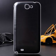 customized back cover for galaxy note 2, hard case for galaxy note 2, aluminum case for galaxy note ii n7100