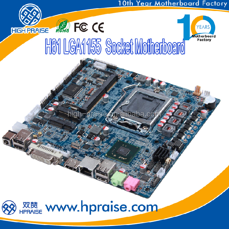 H61 1155 mini itx Slim motherboard with HDMI DVI LAN