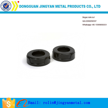 OEM stainless steel black cnc machined no thread spacer rings
