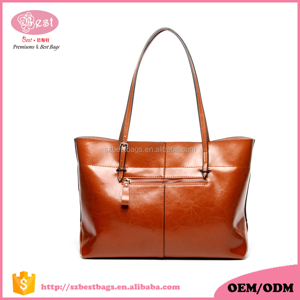 New Design Vintage Italian Leather Young Lady Tote Bag Women Handbags