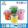 4pcs colorful stainless steel airtight canister