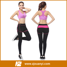 Top quality yoga suits Top + Pants sets Women's yoga fitness wear Solid Nylon Dresses running sports tights