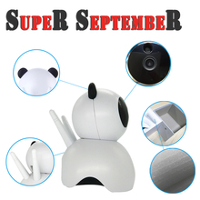 China new arrival Panda color promotional battery powered wifi mini camera wireless analog ip camera outdoor with smart link