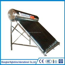 All Stainless Steel Vacuum Tube Low Pressure integrated Solar Water Heaters for home