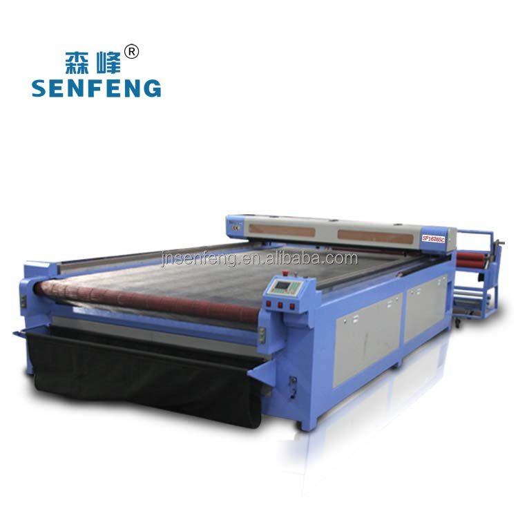 Best sell automatic feed km apparel cloth laser cutting machine price SF1626