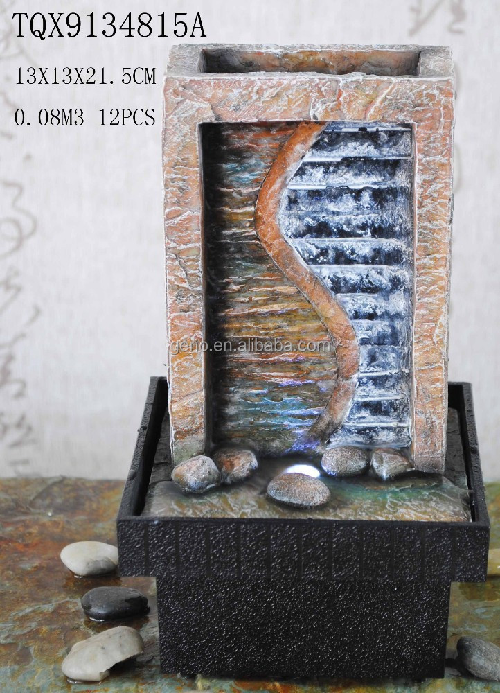 rock stone wall stand tabletop water feature