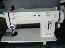long arm flat bed home zigzag sail sewing machine with puller