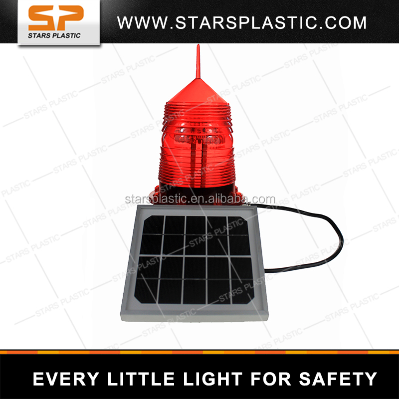 Big Solar Panel Aviation Obstruction Light Solar marine light LED tower lamp